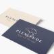 mockup carte de visite avec le logo plenitude