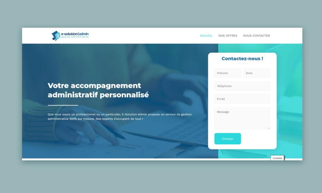 web design e-solution admin