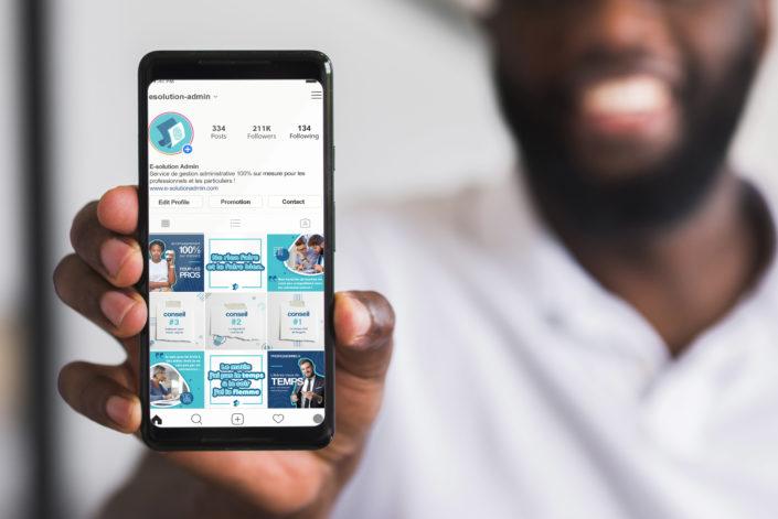 strategie de communication, reseaux sociaux, instagram, e-solution admin